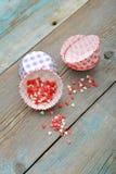 Caisses de petit gâteau Image libre de droits