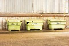Caisses de sable Images stock