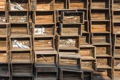 Caisses en bois Images stock
