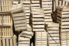 Caisses en bois Images libres de droits