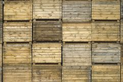 Caisses en bois Photo stock