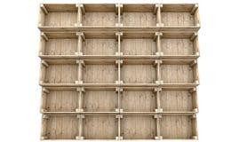 Caisses en bois empilées Photo libre de droits