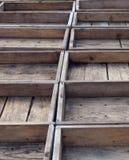 Caisses en bois vides Photographie stock libre de droits