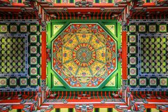 Caisson Ceiling of Nanjing Museum stock images