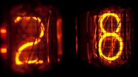 Caisson lumineux de nombre banque de vidéos