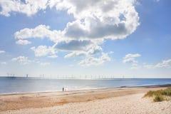 Caister on sea beach stock photo