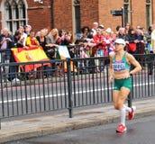 Caitriona Jennings, Ireland. London, UK - August 05, 2012: Caitriona Jennings representing Ireland runs the Women's Olympic Marathon at London 2012 Royalty Free Stock Image