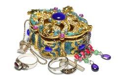 Caixão com jóia Imagens de Stock
