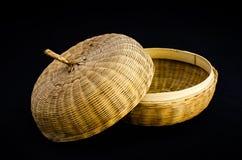 Caixão de bambu do artesanato Fotografia de Stock
