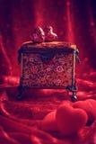 Caixão de joia antigo Imagens de Stock Royalty Free