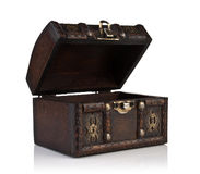 Caixão de madeira Fotos de Stock Royalty Free