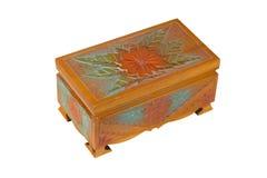 Caixão de madeira isolado no branco Foto de Stock Royalty Free