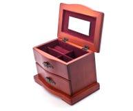 Caixão de madeira para a jóia Imagens de Stock
