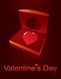 Caixão do amor do dia dos Valentim Imagem de Stock Royalty Free