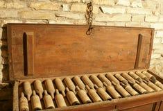 Caixão do vinho do vintage Fotografia de Stock