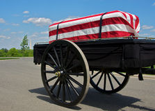 Caixão drapped bandeira Imagem de Stock Royalty Free