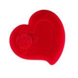 Caixão heart-shaped vermelho isolado imagem de stock royalty free