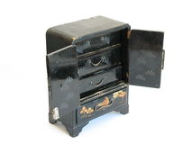 Caixão preto chinês aberto Imagem de Stock Royalty Free