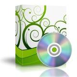 caixa 3d com DVD Fotografia de Stock