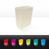 Caixa 3D em branco Foto de Stock Royalty Free