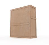 caixa 3d no branco Fotos de Stock