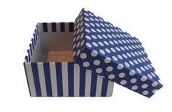 Caixa aberta para o presente em um fundo branco fotos de stock royalty free