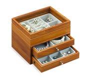 Caixa agradável da caixa da jóia Fotografia de Stock Royalty Free