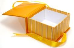 Caixa alaranjada foto de stock