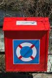 Caixa alaranjada da correia de vida Imagem de Stock