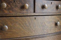 Caixa antiga de madeira da gaveta Foto de Stock