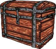 Caixa antiga do vetor Imagens de Stock