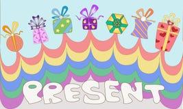 Caixa atual colorida Fotos de Stock