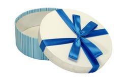 Caixa azul fotografia de stock royalty free