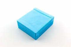 Caixa azul do papel do CD Imagens de Stock