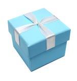 Caixa azul para presentes Imagens de Stock