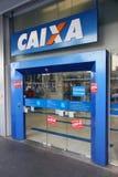 Caixa bank, Brasilien Arkivbilder