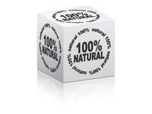 Caixa branca 100% natural Imagens de Stock Royalty Free