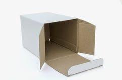 Caixa branca Fotografia de Stock