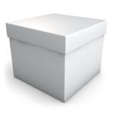 Caixa branca Imagem de Stock
