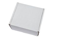 Caixa branca Foto de Stock