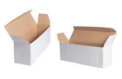 Caixa branca em branco Imagens de Stock Royalty Free
