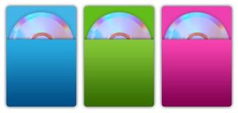 Caixa Cd Cd e de papel Imagens de Stock