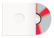 Caixa cd e de papel brilhante ilustração stock