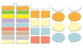 Caixa colorida da bolha do bate-papo Imagens de Stock Royalty Free