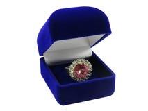 Caixa com anel Imagens de Stock Royalty Free