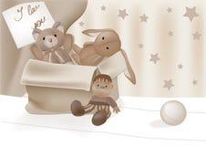 Caixa com brinquedo favorito Fotografia de Stock Royalty Free