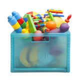 Caixa com brinquedos Fotografia de Stock