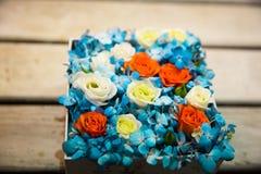 Caixa com flores Imagens de Stock Royalty Free
