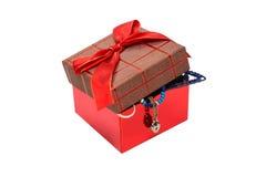 Caixa com jóia Imagem de Stock