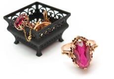 Caixa com jóias Imagem de Stock Royalty Free